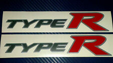 Honda Civic Type R Side Skirt stickers Silver background with Grey and Red (new)