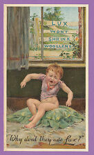 LUX  SOAP  -  VERY  RARE  ADVERTISING  CARD  -  C 1910