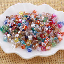 100pcs 6mm Bicone Faceted Crystal Glass Loose Spacer Beads Findings Mixed Colors