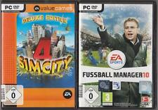 Sim city 4 Deluxe Edition & addon rush hour + Football Manager 2010 FM 10 EA pc