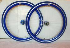NOLOGO BLUE Single Speed wheels wheelsets Fixed Fixie 700c flip-flop hub 1