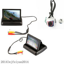 "Car License Screw 170°Rearview Angle Backup Camera+4.3"" Foldable Display Monitor"