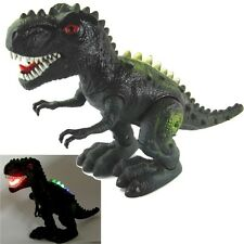 "Large 14"" Walking Dinosaur T-rex Figure Lights Real Sounds Jurassic World Gift"