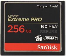 SanDisk ExtremePro 256GB CF memory card SDCFXPS-256G Extreme Pro 256 GB 160MB/s