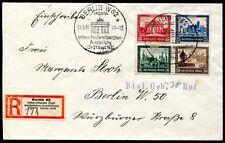 DR 1930 446-449 auf R-BRIEF HERZSTÜCK aus BLOCK1 560€+(S7419