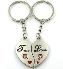"""Idée cadeau , déclaration d'amour , 2 porte clés forme coeur  """"True Love"""""""