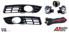 VW PASSAT 3C 2006 - 2009 FOG LIGHTS & GRILLS WITH WIRING & SWITCH FULL SET KIT
