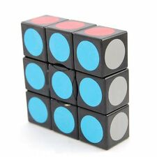 Clearance! US Lanlan 1x3x3 Super Floppy Cube Puzzle Brain Twist Toy Game Black