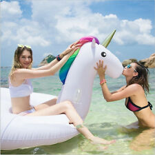 DHL Inflatable Giant Unicorn Seat Boat Water Swim Ring Pool Swiming Float Water