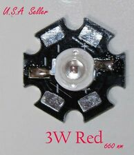3W High Power Red 660nm LED Specialist for plant, DIY item