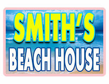 PERSONALIZED BEACH HOUSE SIGN DURABLE ALUMINUM NO RUST FULL COLOR CUSTOM SIGN