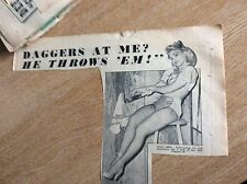 q2-2 ephemera 1950s picture olga frei knife thrower