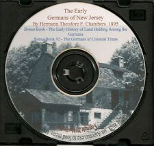 The Early Germans of New Jersey  + Bonus Book