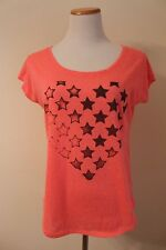 AMERICAN EAGLE OUTFITTERS small shirt top heart stars print BTS pink LOOSE FIT