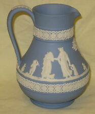 "Wedgwood Blue Jasper Etruscan 6""  Classical Jug - dated 1968"