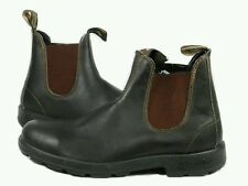 BLUNDSTONE 500 Stout Brown (Brown-Black) Leather Boots Mens US 8/AU 7/Womens 11