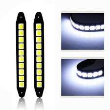 2Pcs Set 20W Waterproof LED 12V Daytime Running Light DRL COB Strip Lamp Fog Car