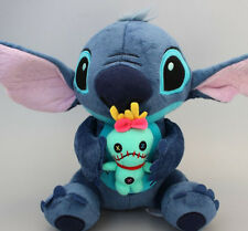 "9.6"" Lilo Stitch with SCRUMP 24cm Soft Stuffed Plush Doll Toy Loose New Gift"