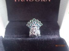 Authentic Pandora Charm  Peacock 791227 New W/Tags