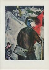 "1963 Vintage ""BETWEEN DARKNESS AND LIGHT, 1943"" by MARC CHAGALL COLOR Lithograph"