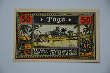 GERMAN COLONY TOGO IN AFRICA 50 PFENNIG 1922 UNCIRCULATED & PERFECT (4065)