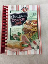 Christmas Cookie Jar Gooseberry Patch Hard Cover Spiral 2008 Cook Book