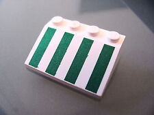 LEGO 3297px11 @@ Slope 33 3 x 4 with Green Stripes Pattern @@ 6329