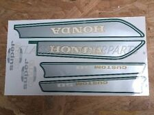 Honda C50 super cub custom 50 gas tank side cover decals stickers emblems H2347