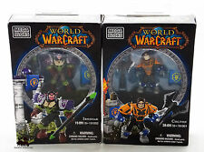Lot 2 Figurines Jeu MEGA BLOKS World of Warcraft Ironoak Colton WOW