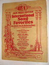 Jack Mills International Song Favorites Number 2 ed. Klickmann 1924