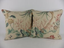 Large 18 Shabby Chic Sanderson Mauritius Floral Red Natural Pillow Cushion Cover