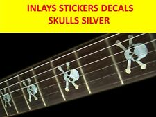 FRET MARKERS INLAYS SKULL RUNNING WILD SILVER VISIT OUR STORE WITH MORE MODELS