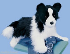 "Douglas Chase BORDER COLLIE 16"" Plush Dog Stuffed Animal Cuddle Toy NEW"