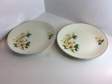 """2 Lovely """"yellow Magnolia """" J&G Meakin Plates"""