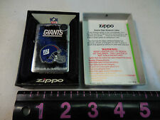 NY GIANTS   A  ZIPPO 12  LIGHTER MINT IN BOX