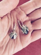 Anthropologie Beetle Bug Insect Statement Earings Never Worn!