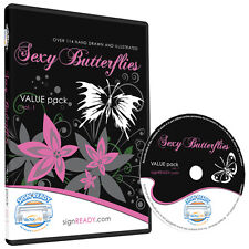 BUTTERFLY CLIPART-VINYL CUTTER PLOTTER IMAGES-EPS VECTOR CLIP ART GRAPHICS CD