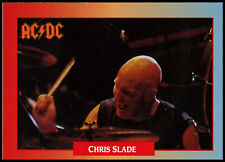 Chris Slade, ACDC #35 Rockcards 1991 Music Trade Card (C267)