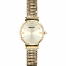 NEW Emporio Armani - AR1957 - Ladies Stainless Steel Mesh- Gold Tone Watch