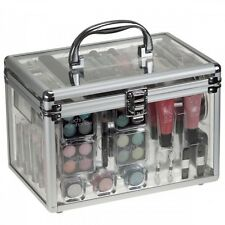 NEW 36 PIECE VANITY CASE BEAUTY COSMETIC SET GIFT TRAVEL MAKE UP CARRY BOX 90232