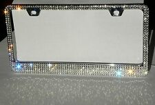 SWAROVSKI CRYSTALS license plate frame 5 rows !!!Bling Bling frame