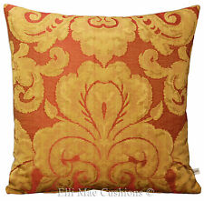 Zoffany Brocatello Jacquard Designer Fabric Red Gold Cushion Pillow Cover