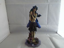 Large Tree Elf Fairy With Flowers Gothic Collectable Gift