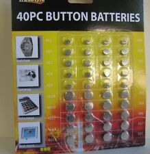 40/LOT SALE: Batteries Button AG1/364,AG3/392,AG4/377,AG10/389,AG12/386,AG13/357