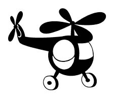 Unmounted Rubber Stamp - Small Helicopter - 7078