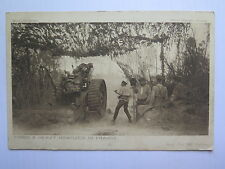 WORLD WAR I DAILY MAIL OFFICIAL POSTCARD FIRING HEAVY HOWITZER in FRANCE No 32