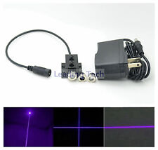 3in1 Dot/Line/Cross 405nm 20mW Violet-Blue Laser Module Lazer Diode w/Adapter