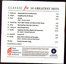Promo CD, Classic FM, 10 Greates hits, Liverpool Philharmonic