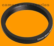 52mm to 46mm 52-46 Stepping Step Down Filter Ring Adapter 52-46mm 52mm-46mm
