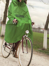 Adult Wind Rain Outdoor Portable Poncho Long Size Hooded Bicycle Bike Raincoat